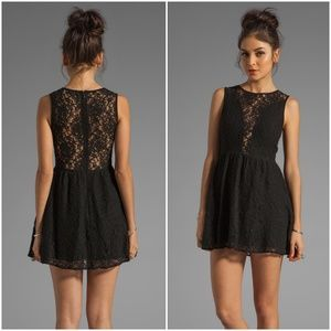 For love and lemon black lace dress xs